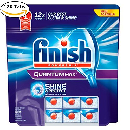 Automatic Detergent (Finish Quantum Max Fresh, Automatic Dishwasher Detergent Tablets 120 Capsules)