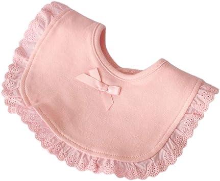 HEALIFTY Babero de bebé de princesa de encaje princesa babero de algodón impermeable para bebés recién nacidos (rosa): Amazon.es: Salud y cuidado personal