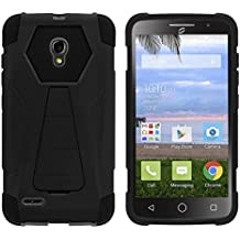TurtleArmor | Alcatel One Touch Pop Icon 2 Case | A846L | A846G [Dynamic Shell] Hybrid Cover Impact Absorber Shock Silicone Combo Hard Kickstand Wild Animal Design - Black