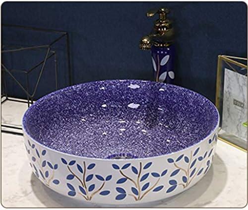 陶器 洗面ボール,省スペ 室外 ミニ型 洗面ボウル 楕円形 洗面台 手洗器 洗面台 手洗い鉢 おしゃれ 洗面ボ ガラス 手洗い鉢 手洗い器 壁付け型 (Color : Purple)