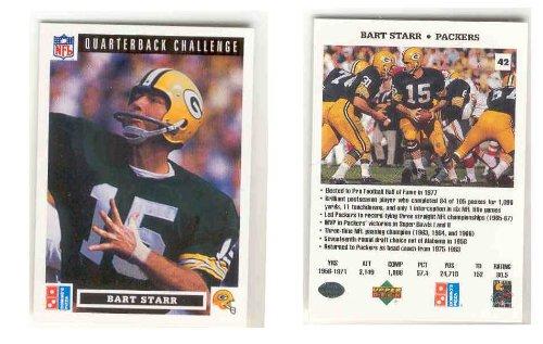 Bart StarrグリーンBay Packers Limited Edition Edition Upper Upper Deck Quarterback Limited Challenge NFLフットボールカード B0032G5E3M, スマプロ:8a4f00e6 --- harrow-unison.org.uk