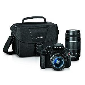 51kGlATJzSL. SS300  - Canon EOS Rebel T5 Digital SLR Camera with EF-S 18-55mm IS II + EF 75-300mm f/4-5.6 III Bundle