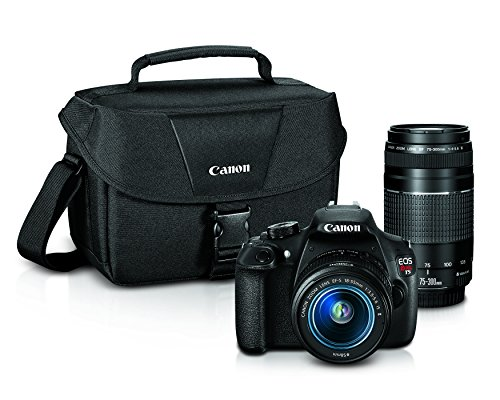 Canon EOS Rebel T5 Digital SLR Camera with EF-S 18-55mm IS II + EF 75-300mm f/4-5.6 III Bundle by Canon