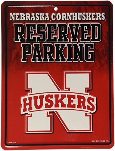 NCAA Nebraska Cornhuskers Hi-Res Metal Parking Sign