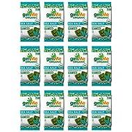gimMe Organic Roasted Seaweed - Sea Salt - Source of Vitamin C, Iodine, Omega 3's - 12 Sharing Packs - Keto, Vegan, Gluten Free - Healthy On-The-Go Snack for Kids & Adults