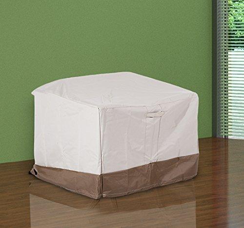 homcom –Telo di Copertura per Mobili in Tessuto Oxford 97 × 93 × 63/83cm Crema e Marrone