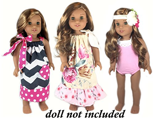 3 Complete Outfit Sets for 18 inch Ameri - Doll Pink Dress Shopping Results