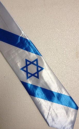Israeli Flag Necktie (One Star of (David Necktie)