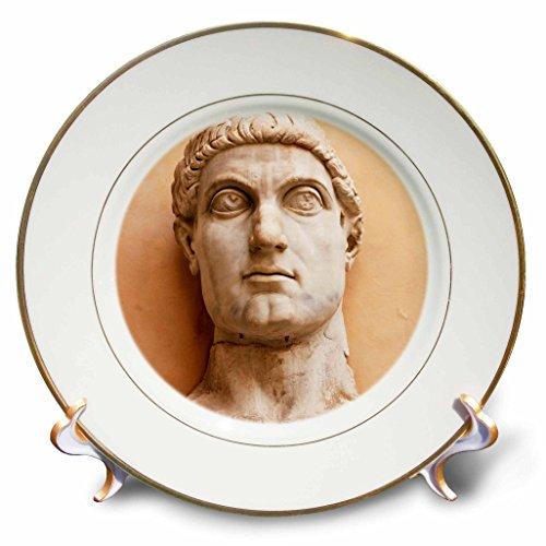 3dRose cp_82152_1 Constantine I, Statue, Capitoline Museums Rome, Italy EU16 PRI0091 Prisma Porcelain Plate, 8-Inch