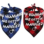 KZHAREEN 2 Pack My Humans are Getting Married Dog Bandana Printing Plaid Wedding Reversible Triangle Bibs Scarf Accessories for Dogs Cats 6