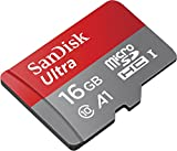 Sandisk Ultra 16GB Micro SDHC UHS-I Card with Adapter - 98MB/s U1 A1 -SDSQUAR-016G-GN6MA