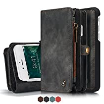 Leather Wallet MagneticPhone Case Detachable Iphone Case with Card Slots Cover