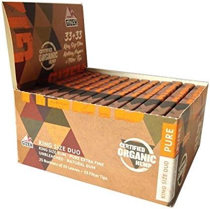 Gizeh - Lote para fumador Organic Hemp King Size Duo Pure ...