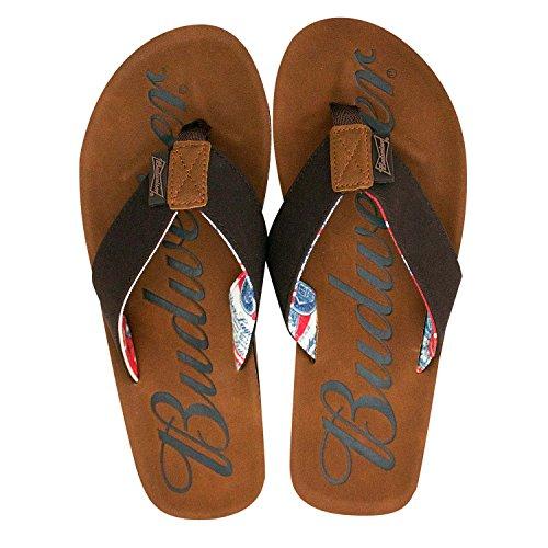 Anheiser Busch Budweiser Beer Men's Thong Sandals (L 11/12)