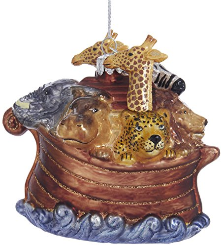 (Kurt Adler Kurt S. Adler Noble Gems Noah's Ark Glass Ornament)