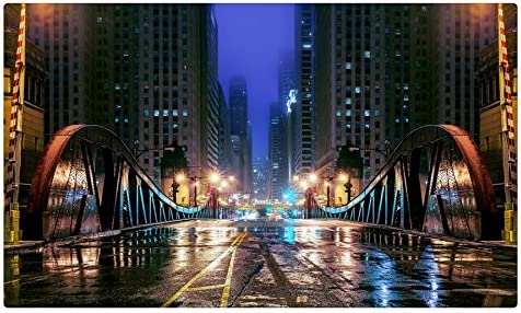 Estados Unidos puentes carreteras Chicago ciudad calle noche Illinois ciudades sitios de viajes postal Post tarjeta: Amazon.es: Oficina y papelería