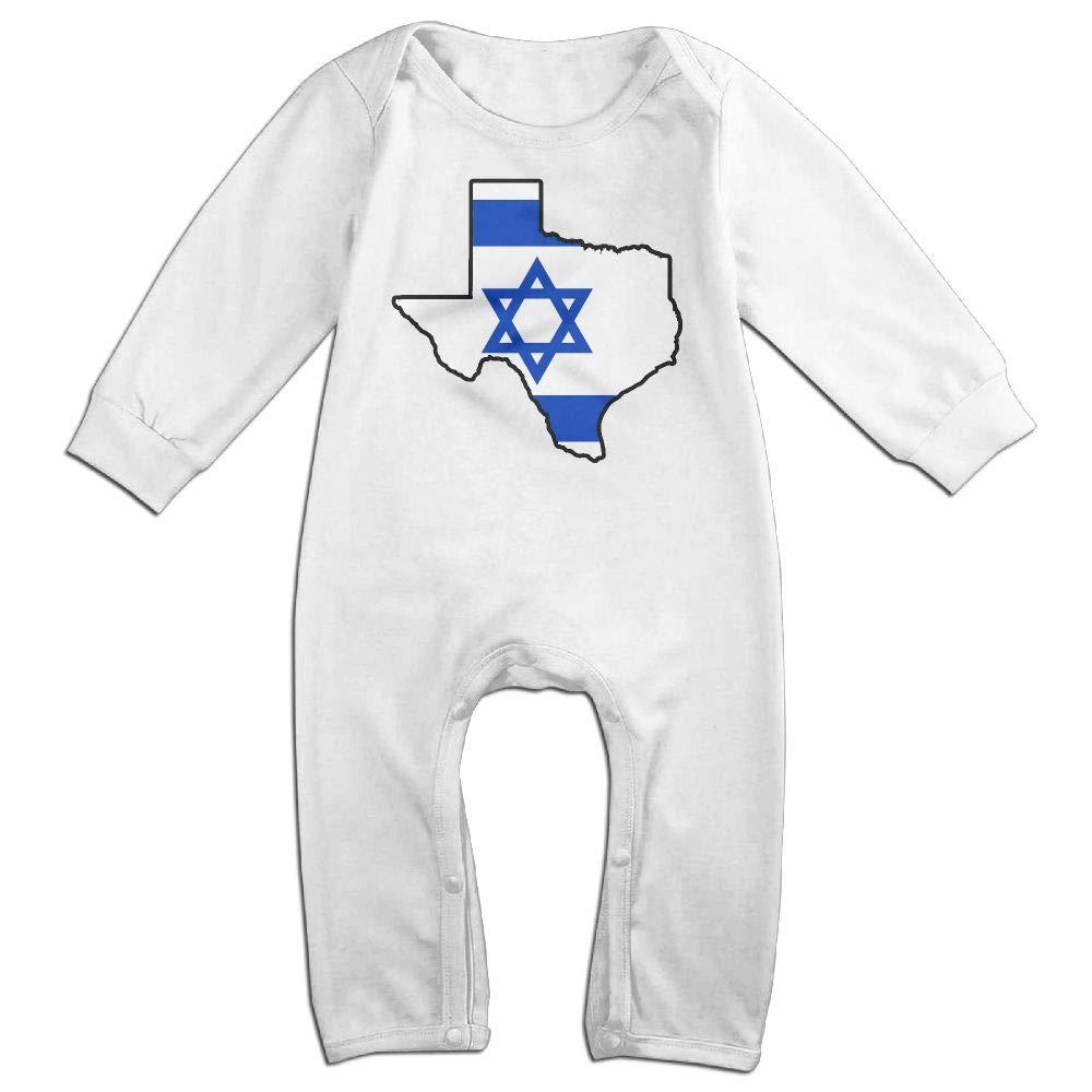 Mri-le1 Toddler Baby Boy Girl Organic Coverall Israel Flag Texas Map Kid Pajamas