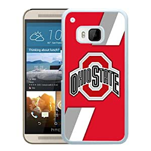 Custom Luxury Cover Case With Ncaa Big Ten Conference Football Ohio State Buckeyes 6 White HTC ONE M9 Case
