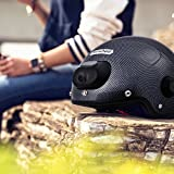 Airwheel Smart Motorcycle Skateboarding Helmet Bluetooth Speaker with Camera for Video and Photo Record Black 60mm