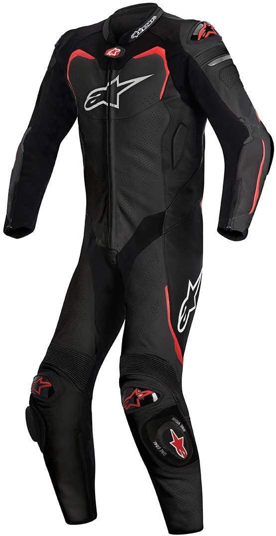 1 Piece Alpinestars Gp Pro Leather Suit Black//Red,Size 60