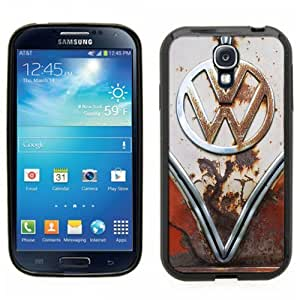 Samsung Galaxy S4 SIIII Black Rubber Silicone Case - VW Bus Rusted Front End bumper grill Old School volkswagen bus