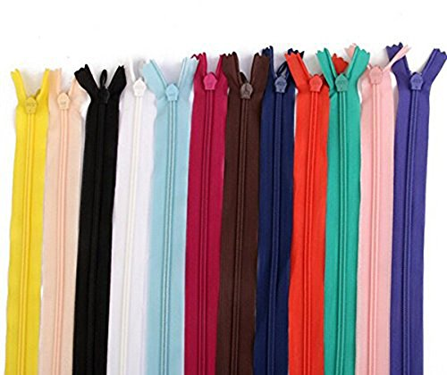 - 60 Pcs 7 Inch 18cm Nylon Closed Ended Zip Zippers for Tailor Sewer Craft Sewing Clothes