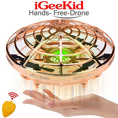 Flying Ball Drone, RC Flying Ball Toy, Hand Operated Helicopter Drones for Kids or Adults, Flying Toys with 2 Speed Auto-Avoid Obstacles 360°Rotating Magic Led Light Boy Toys Kids Birthday -