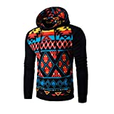 Men Jacket,Leegor Casual Sport Coat Bohemia Retro Hooded Sweatshirt Tops Outwear