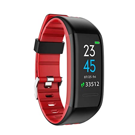 KSCD Sport Smart-Watch - Bluetooth, Fitness Tracker Smart Watch Blutdruck-Puls-Monitor, Farbbildschirm Kalorienzähler IP67 wa