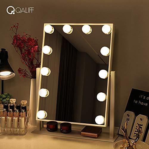 Lighted Mirror, Makeup Mirror with Lights, Qaliff Makeup Vanity Makes Your Makeup a Little Easyer
