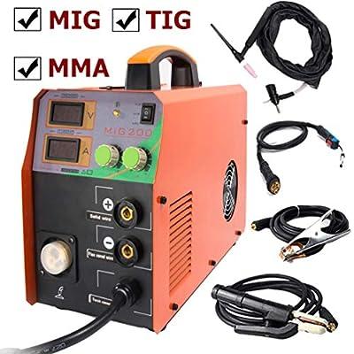 TIG/MIG/MMA Welding Machine MAG Gassless IGBT Welder No Gas Portable Inverter 200A