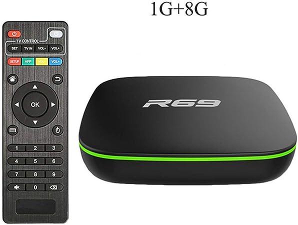 LFYPSM R69 Smart Android 7.1 TV Box 2GB 16GB Allwinner H3 Quad-Core 2.4G WiFi Set Top Box 1080P HD Soporte 3D Movie Media Player,Black: Amazon.es: Hogar