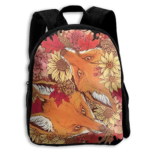 Autumn Fox Bloom Children/Kids Unisex School Bags Student Backpack Daypack Bookbags For Boys/Girls