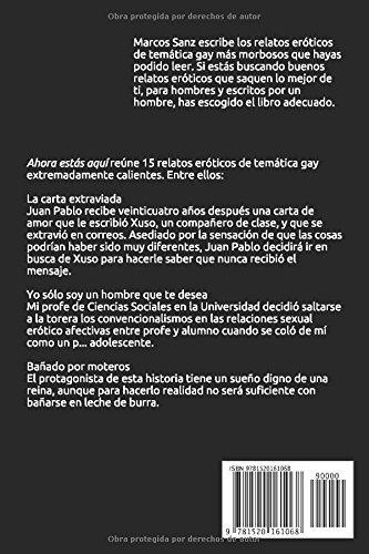 Ahora estás aquí (Spanish Edition): Marcos Sanz: 9781520161068: Amazon.com: Books