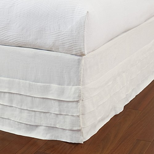 Company C Waterfall Queen Size Bed Skirt, White