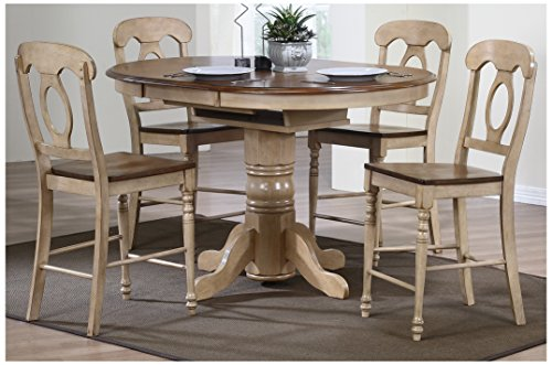 Butterfly Pub Table (Sunset Trading 5 Piece Brook Butterfly Leaf Pub Table Set with Napoleon Stools)