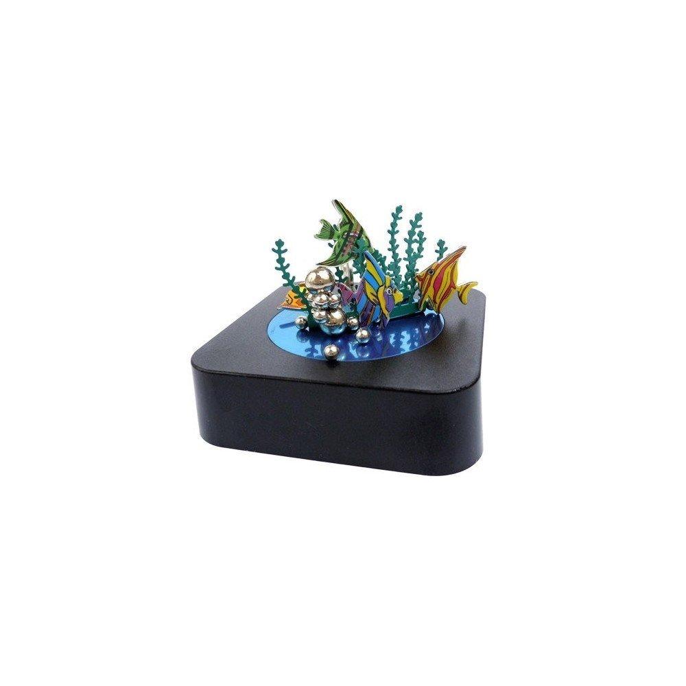 Decorative Colorful Desk Office Aquarium Magnetic Sculpture Paper Clip Holder Building Block by MINYA