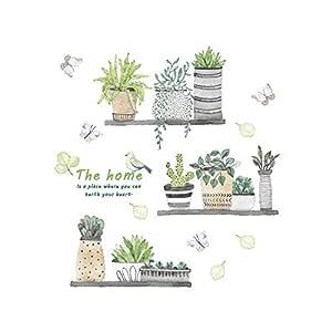 SELUXU Cactus de Dibujos Animados Maceta Plantas Verdes