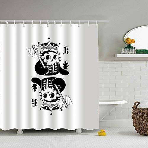 - PQFLICS 3D Animal Poker Monkey Polyester Waterproof Shower Curtain-Bathroom Accessories Designs