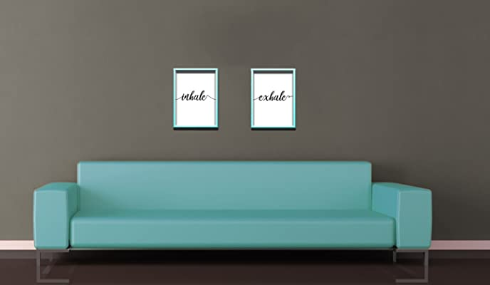 Inhale Exhale Print Large 11 x 14 Inch, Minimalist Art, Typography Art, Yoga Wall Art, Relaxation Gifts, Breathe Print, Home Wall Art, Poster