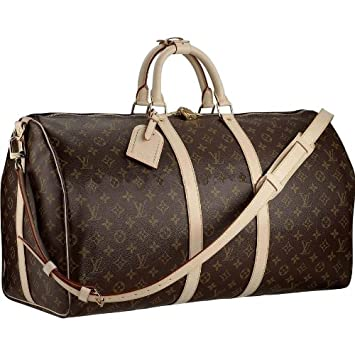 febf4bd03f1e Amazon.com   Louis Vuitton Keepall 55 With Shoulder Strap M41414   Cosmetic  Tote Bags   Beauty