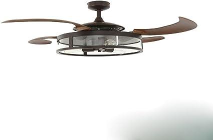 Ventilador de techo invisible, multi velocidad viento, ventilador ...