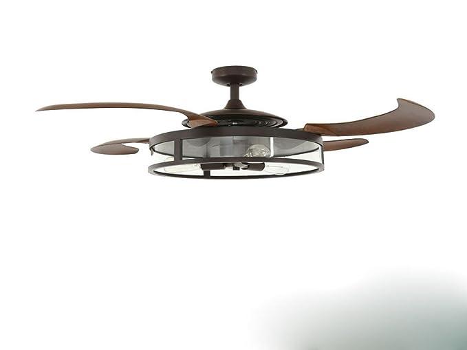 Ventilador de techo invisible, multi velocidad viento ...