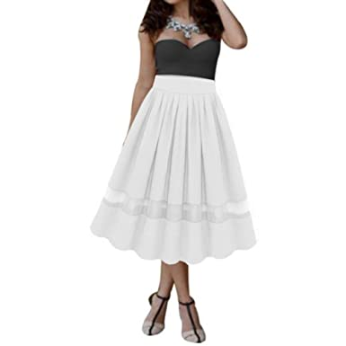 4bcbeca625b1 OHQ Robe Longue En Organza Jupe PlisséE Mousseline De Soie Blanc Noir Bleu  Rouge Femmes Fille