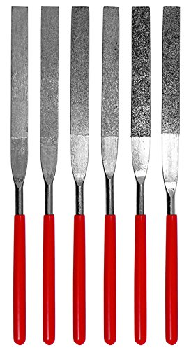 SE 74330DF 6-Piece Flat Diamond Grit File Set