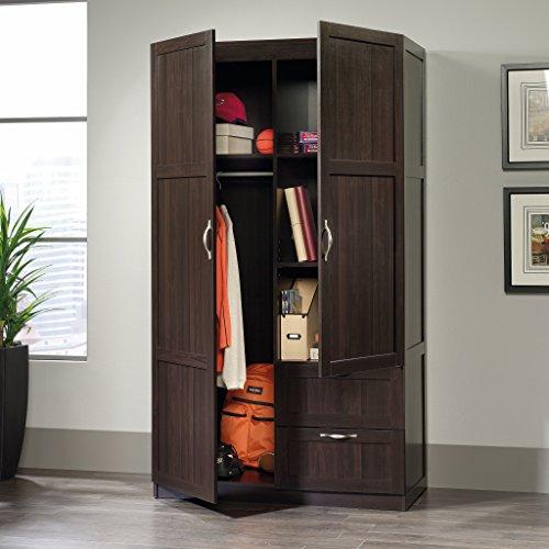 Sauder Large Storage Cabinet, Cinnamon Cherry Finish
