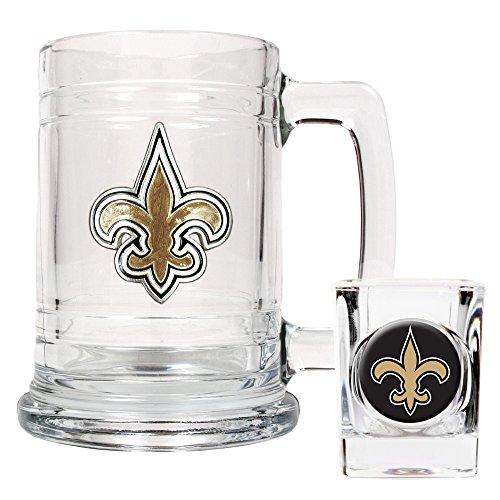 NFL New Orleans Saints Boilermaker Set (Primary Logo)