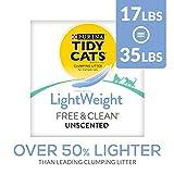 Purina Tidy Cats Lightweight Free & Clean with Ammonia Blocker Clumping Dust Free Cat Litter - 17 LB. Box