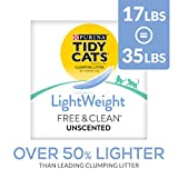 Purina Tidy Cats Light Weight, Dust Free, Clumping Cat Litter; LightWeight Free & Clean Unscented,...