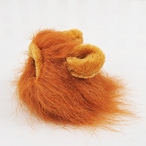 VT BigHome Pet Hat Costume Lion Mane Cat Wig Halloween Dress Up with Ears Pet hat Lion Mane Wig Cute pet Costume Cosplay